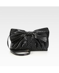 RED Valentino Large Bow Patent Leather Trim Shoulder Bag - Lyst