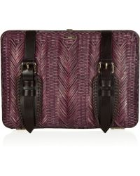 Burberry Prorsum | Bamboo and Leather Clutch | Lyst