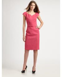 David Meister Belted Dress - Lyst