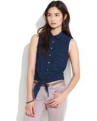Madewell Chambray Drive-In Shirt - Lyst