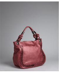 Big Buddha - Red Berry Faux Leather Tucson Handbag - Lyst