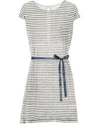Day Birger Et Mikkelsen Day Tilly Striped Linen Dress black - Lyst