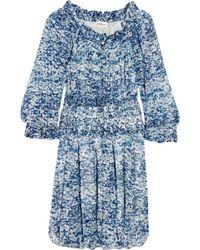 Etoile Isabel Marant Bell Printed Silk-chiffon Dress - Lyst