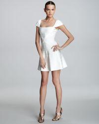 Hervé Léger Flare-skirt Bandage Dress - Lyst
