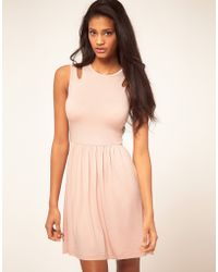 ASOS Collection Asos Skater Dress with Cut Out Shoulder - Lyst