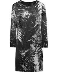 McQ by Alexander McQueen Printed Stretch Silk-satin Dress - Lyst