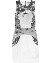 Aminaka Wilmont Printed Stretch-cotton Mini Dress - Lyst