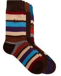 Pringle of Scotland - Pringle 3-pack Multi Stripe Socks - Lyst