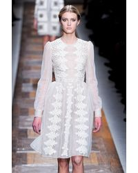 Valentino Fall 2012 Floral Appliqué Lace Dress - Lyst