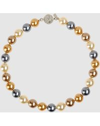 Kenneth Jay Lane Necklace gray - Lyst