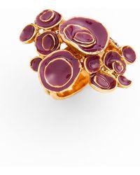 Saint Laurent Arty Flower Ring - Lyst