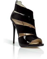 Giuseppe Zanotti Black Patent Leather Sandals - Lyst