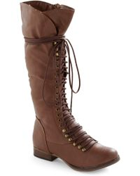 ModCloth Follow The Cedar Boot in Medium Brown - Lyst