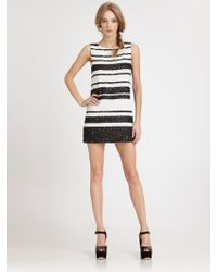 Alice + Olivia Kimmy Beaded Stripe Dress - Lyst