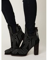 Free People Fiona Quilted Ankle Boot - Lyst
