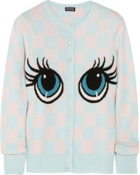 Meadham Kirchhoff - Darla Intarsia Knitted Cardigan - Lyst
