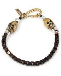 Vanessa Mooney Box Skull Bracelet Black - Lyst