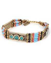 Vanessa Mooney Small Moonshield Bracelet Turquoise - Lyst