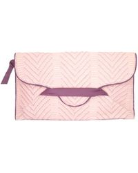 Alexandra De Curtis Eve Maxi Envelope Clutch Pink and Purple - Lyst