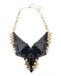 Eaburns Studded Stegosaurus Necklace in Black - Lyst