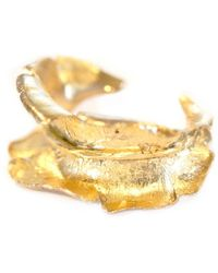 Gabriela Ramirez Michel Antique Gold Leaf Bracelet. - Lyst