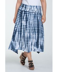 Allen Allen   Tie Dye Knit Skirt   Lyst