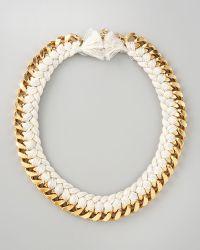 Aurelie Bidermann Braided Chain Necklace - Lyst