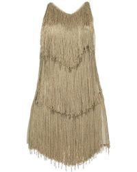 Azzaro Fringe Dress - Lyst