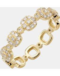 Bony Levy Stackable Square Diamond Ring - Lyst