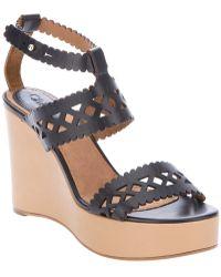 Chloé Foster Wedge Gladiator Sandal black - Lyst
