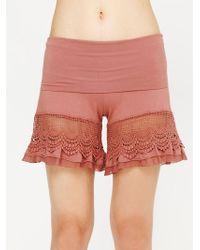 Nightcap - Lace Bloomer Shorts - Lyst