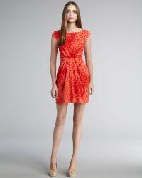 Shoshanna Virginia Capsleeve Dress - Lyst