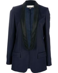 Stella McCartney Tuxedo Jacket blue - Lyst
