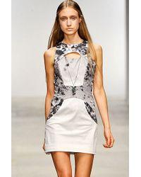 Aminaka Wilmont Cut Out Sleeveless Woven Dress - Lyst