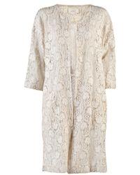 Giada Forte Lace Coat beige - Lyst
