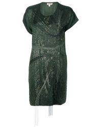 P.A.R.O.S.H. Embellished Silk Dress - Lyst
