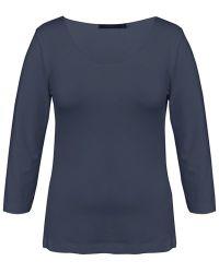 Sandwich - Long Sleeved Essential Tshirt Dark Blue - Lyst
