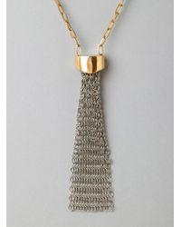Aesa - Knight Brass and Steel Pendant - Lyst