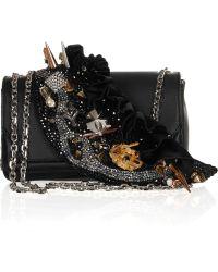 Christian Louboutin 20th Anniversary Artemis Paris Embellished Leather Shoulder Bag - Lyst