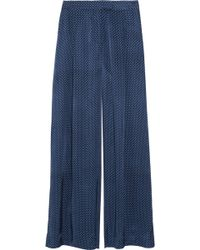 Elizabeth And James Evelyn Satin Pants - Lyst