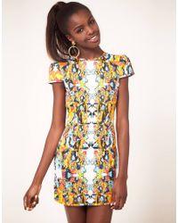 Fairground Mirror Hyper Print Open Back Dress - Lyst