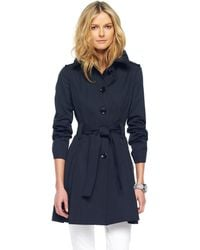 Michael Kors Singlebreasted Trench Black Or Truffle - Lyst
