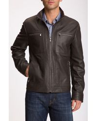 Michael Kors Perforated Leather Racer Jacket - Lyst