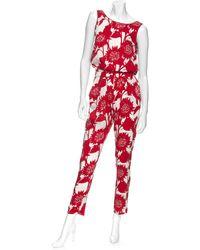 Piamita - Floral Pajama Jumpsuit - Lyst