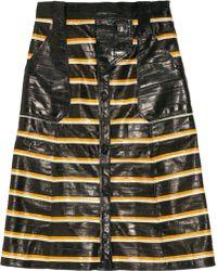 Proenza Schouler Striped Eel Skirt - Lyst