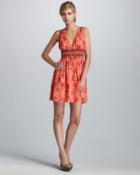 Theory Printed Sequined Dress - Lyst