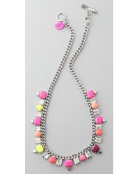 Juicy Couture - Gemstud Necklace - Lyst