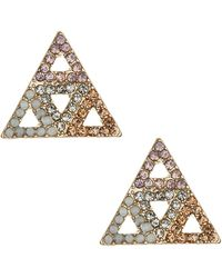 Topshop Encrusted Mini Triangle Earrin - Lyst