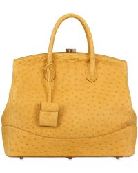 Desmo - Sara Ostrich Skin Top Handle - Lyst