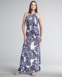 T-bags Printed Halter Maxi Dress - Lyst